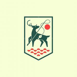 Modern Deer Fishing Logo