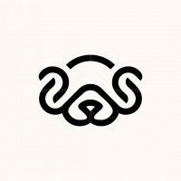 Dog Line Minimalist Logo