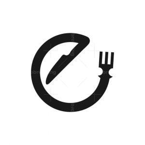 Letter E Cutlery Logo