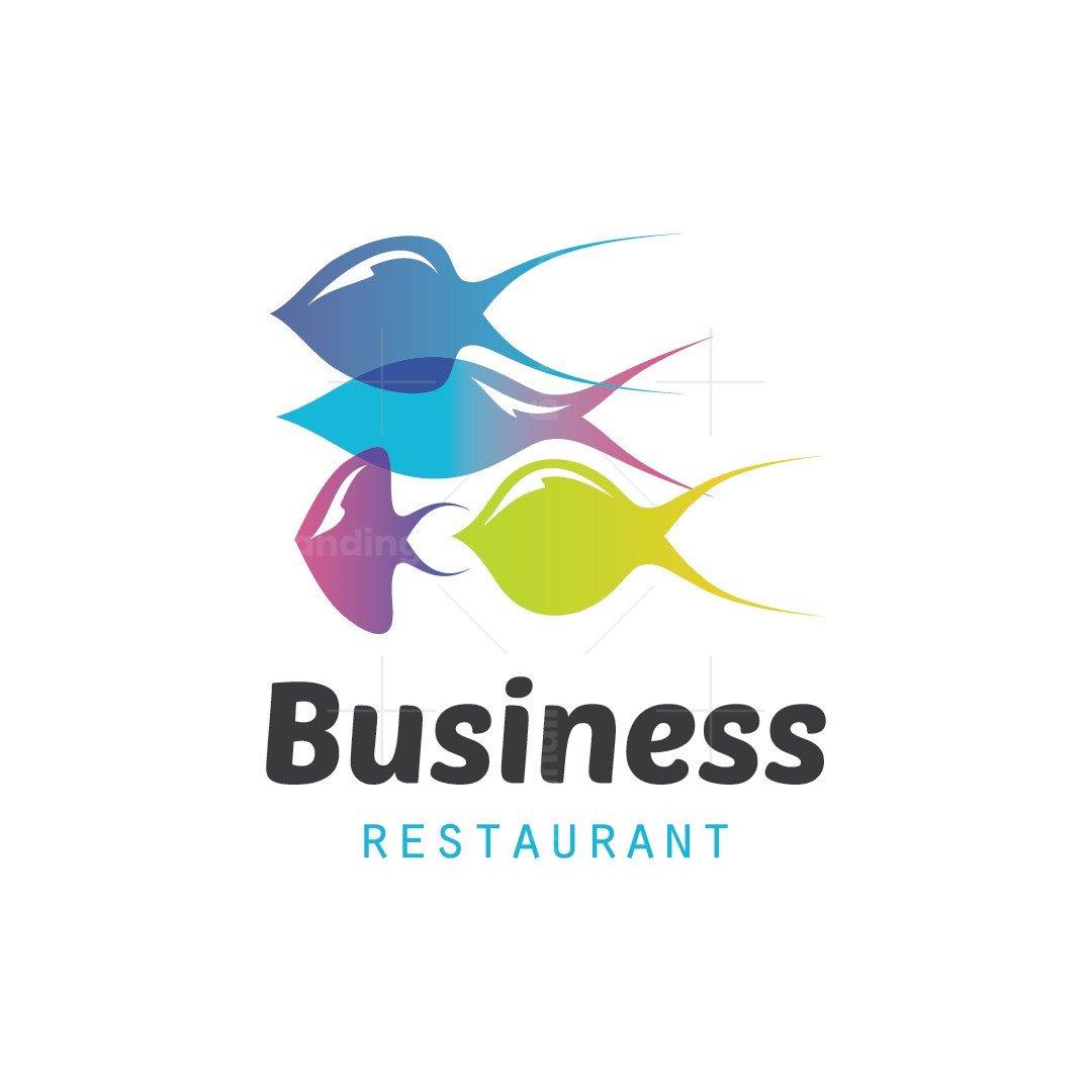 Fish Group Restaurant Logo
