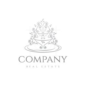 Fountain Real Estate Floral Logo