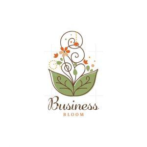 Fountain Bloom Floral Logo