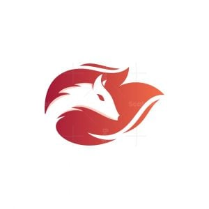 Fox Fire Modern Logo