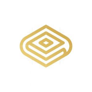 Gold Monoline Books Logo