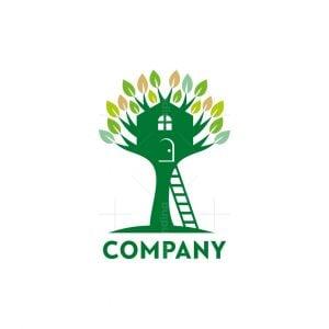 Green Home Tree Logo