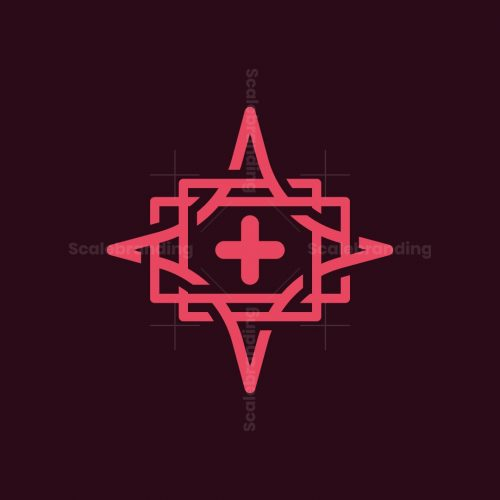 Cross Star Knot Logo