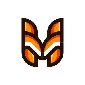 Letter H Fox Logo