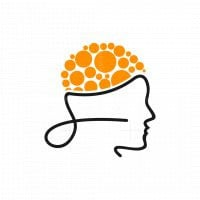 Head Brain Line Logo