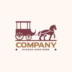 Horse With Carriage Logo