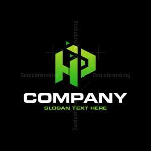 Letter Hp Digital Pixel Tech Logo