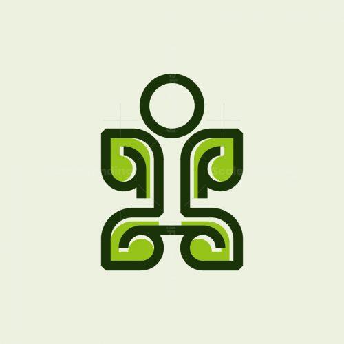 Human Leaf Nature Logo
