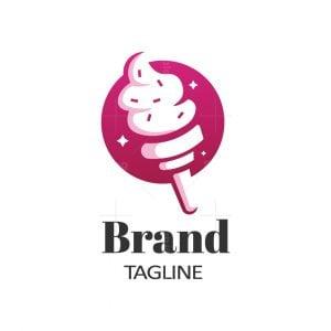 Ice Cream Flame Logo