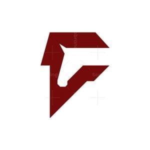 Initial F Horse Logo