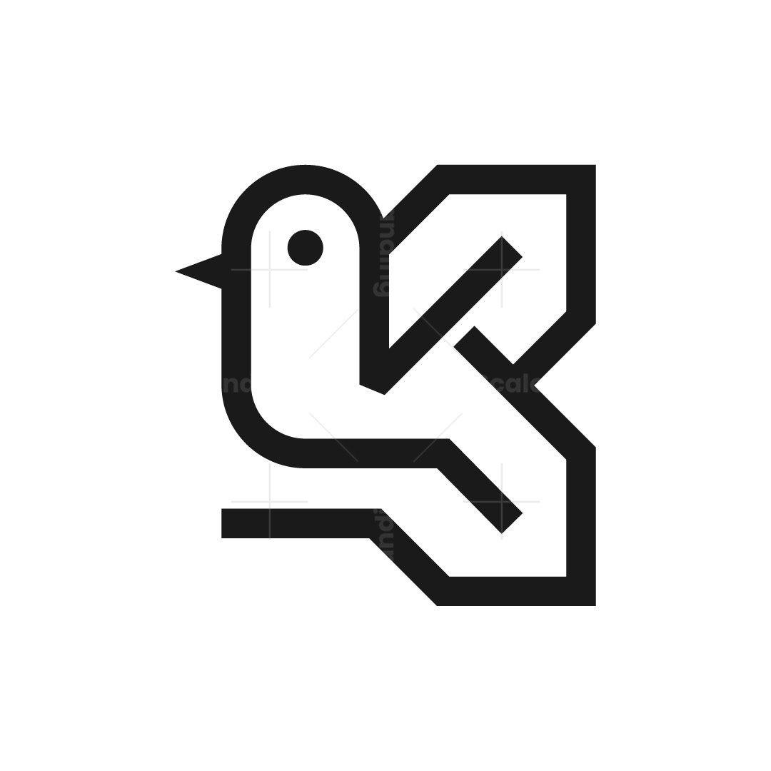 Letter K Bird Logo