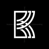 Modern K Monogram Logo