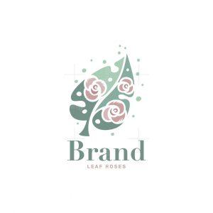 Leaf Roses Logo