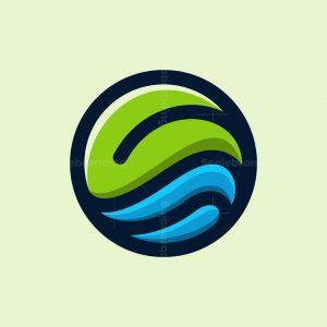 Leaf Wave Circle Logo