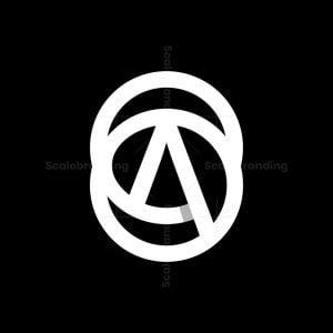 Letter A Center Loop Monogram Logo