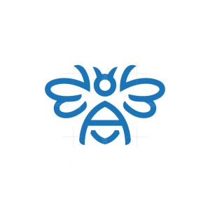 Letter A Bee Logo