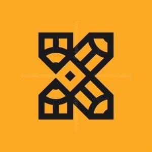 Letter K Pencils Logo
