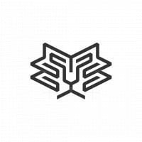 Lion Line Simple Logo