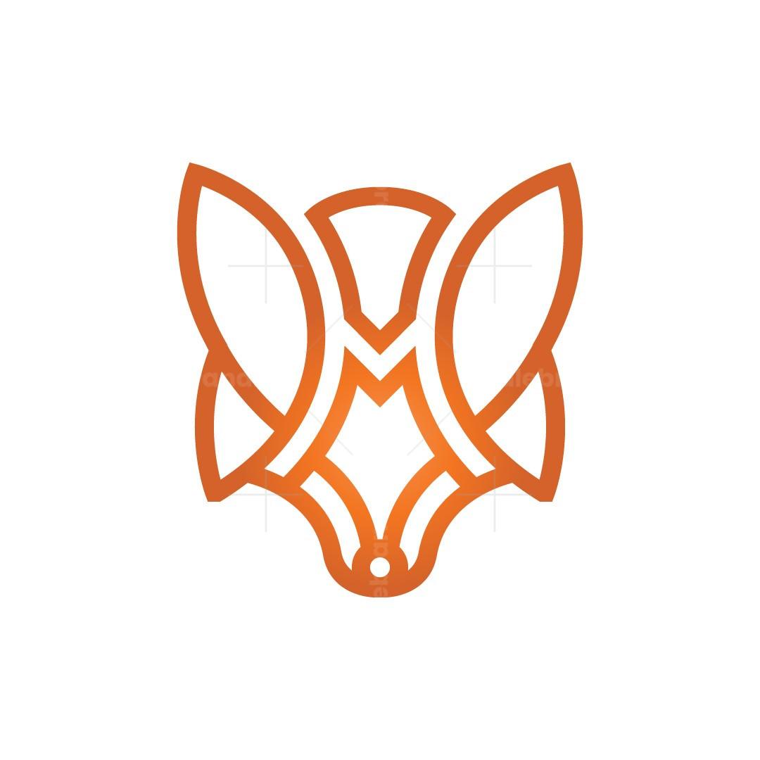 Letter M Fox Logo Fox Head Logo