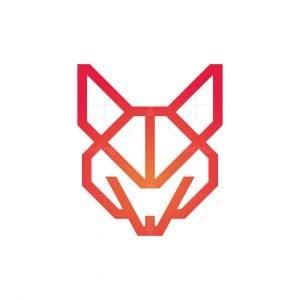 Minimalist Fox Logo Fox Head Logo