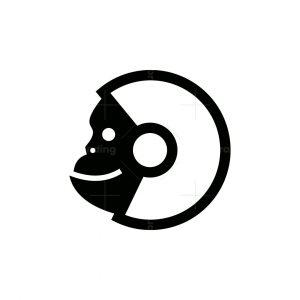 Astronaut Monkey Icon Logo