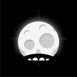 Moon Bridge Skull Logo