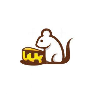 Mouse Cheese Cute Logo