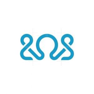Octopus Line Modern Logo