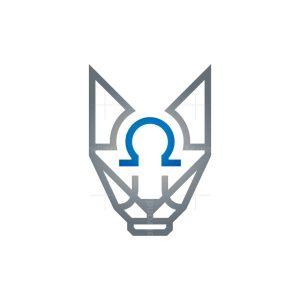 Omega Wolf Head Logo