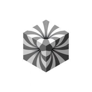Optical Illusion Cube Logo