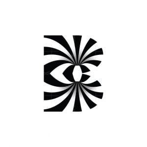 Optical Illusion B Logo