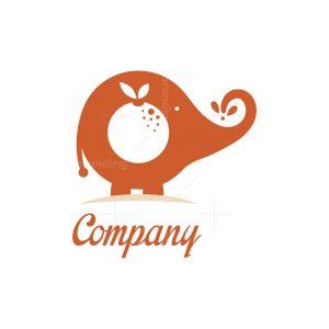 Orange Elephant Food Logo