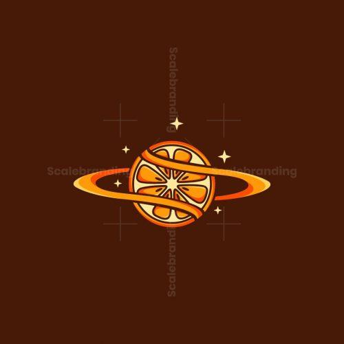 Orange Fruit Galaxy Logo