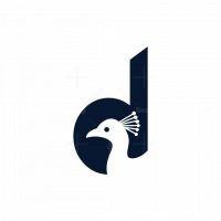 Peacock D Letter Logo
