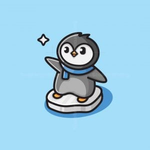 Cute Penguin Logo
