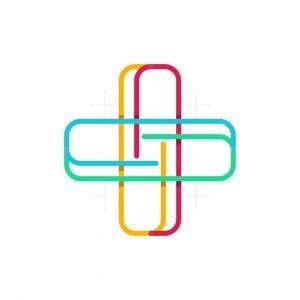 Plus Medical Line Colorful Logo