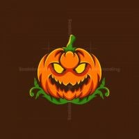 Pumpkin Halloween Scary Logo