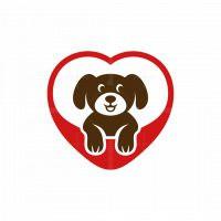 Puppy Love Cute Logo