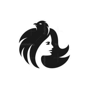 Raven Beauty Girl Logo
