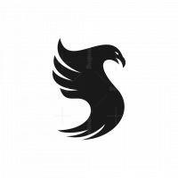 Letter S Eagle Silhouette Logo