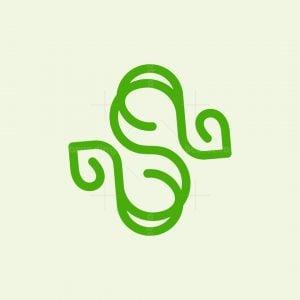 Letter S Line Leaf Logo