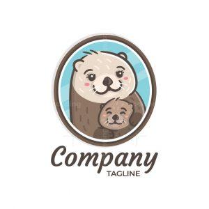 Sea Otter Mom Logo
