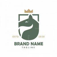 Horse Shield Crown Logo