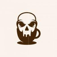 Skull Cup Coffee Logo