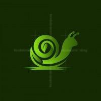 Snail Leaf Nature Logo