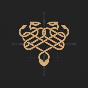 Luxury Twin Snakes Logo