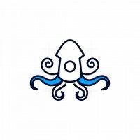 Squid Line Simple Logo